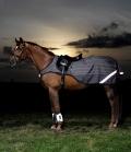 Horseware Ausreitdecke Amigo Reflectech 50g - reflect grau schwarz