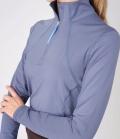 PS of Sweden Shirt Damen Funktion Base Layer Alex Zip - denimblue