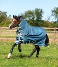Horseware Turnoutdecke AmEco Bravo12 Plus 100g - teal/grey