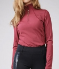 PS of Sweden Shirt Damen Funktion Base Layer Alex Zip - berry