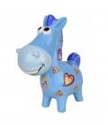 HKM Spardose Funny Pferd  stehend - blau