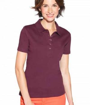 Textil Polo Shirt Damen Druckknopf