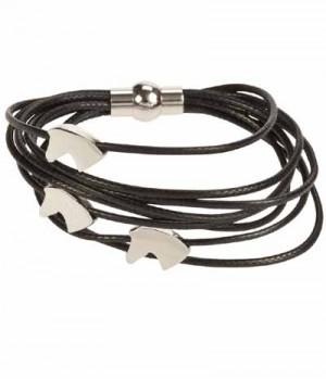 Happy Ross Armband 3 Bänder m.Pferdeköpfen